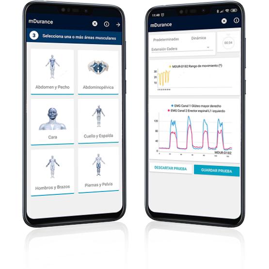 app movil mDurance electromiógrafo