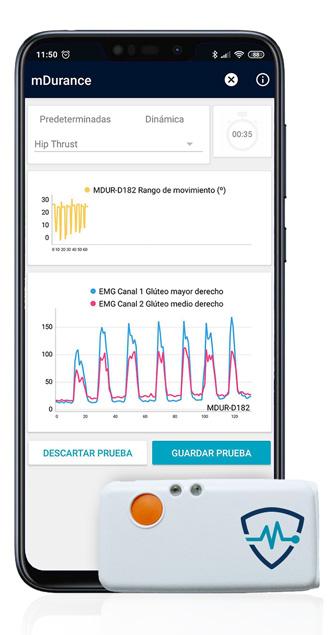 app movil y sensor inalámbrico mDurance entrenamiento
