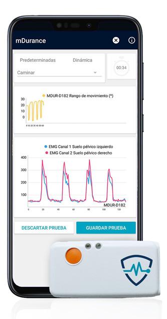 app movil y sensor inalámbrico mDurance suelo pélvico